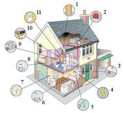 Монтаж отопления и электрики.